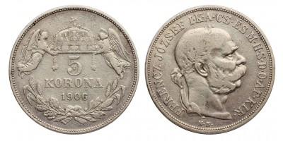 Ferenc József 5 korona 1906 KB.