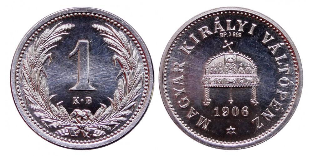 Ferenc József 1-10-20 fillér 1906 ezüst utánveret