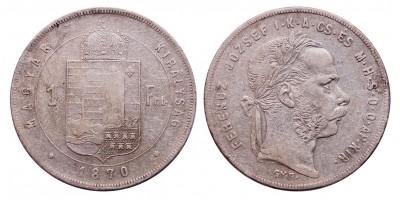 Ferenc József 1 Forint 1870 GYF