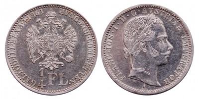 Ferenc József 1/4 forin 1861 A