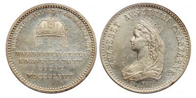 Ferenc József,Erzsébet koronázási zseton 1867 Buda