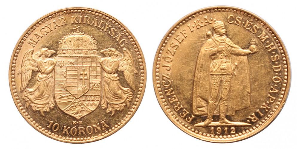 Ferenc József 10 korona 1912 KB.