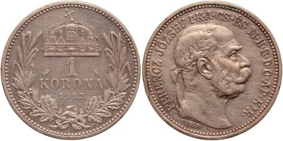 Ferenc József 1 korona 1913 KB. R!