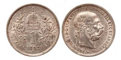 Ferenc József 1 korona 1893 jn.