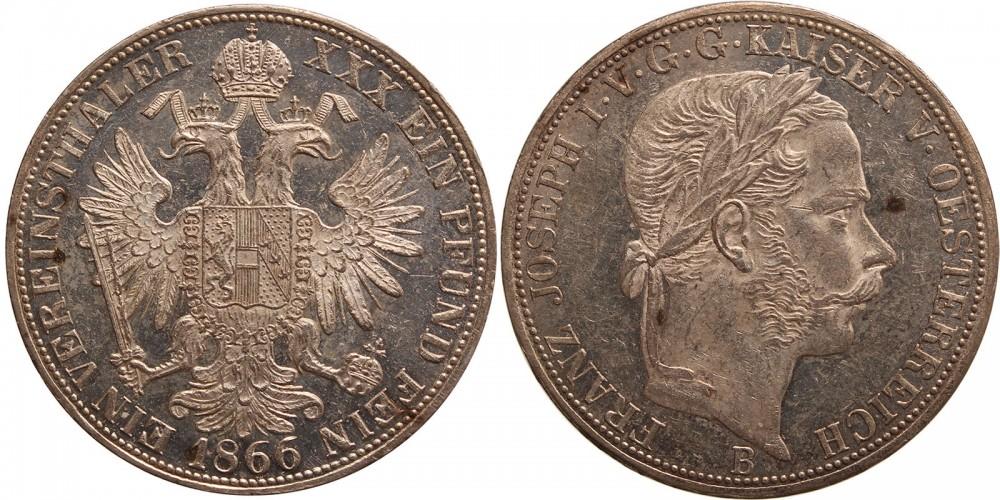 Ferenc József vereinstaler 1866 A
