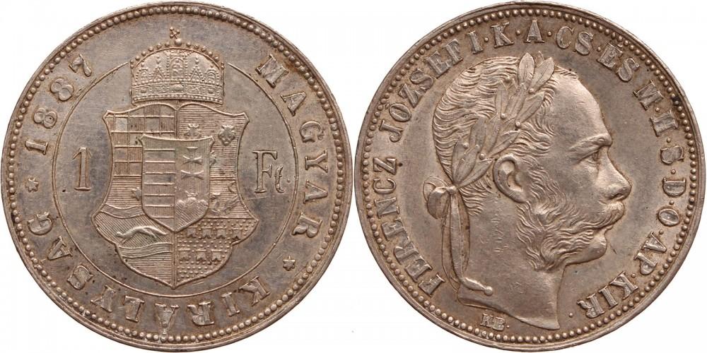 Ferenc József 1 forint 1887 KB