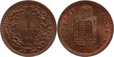 Ferenc József 1 krajcár 1887 KB