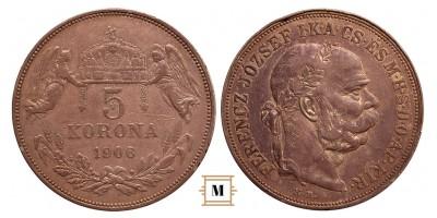 Ferenc József 5 korona 1906 KB. RRR!