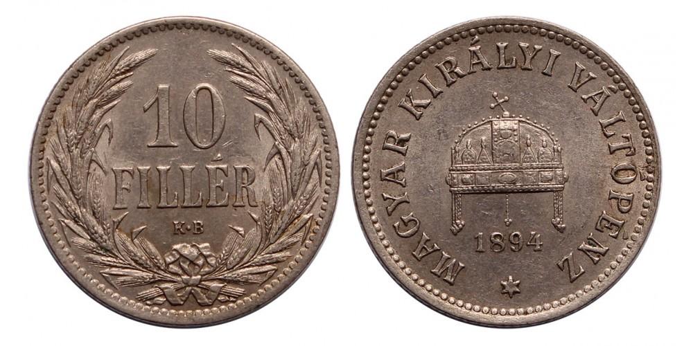Ferenc József 10 fillér 1894 KB.