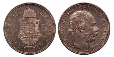 Ferenc József 1 forint 1888 KB.