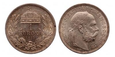 Ferenc József 1 korona 1893 KB.
