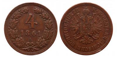Ferenc József 4 krajcár 1861 A