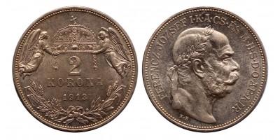 Ferenc József 2 korona 1913 KB.
