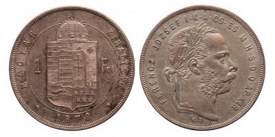 Ferenc József 1 forint 1878 KB.