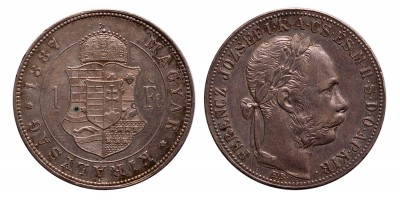 Ferenc József 1 forint 1887 KB.