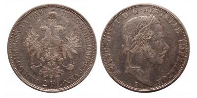 Ferenc József 2 florin 1859 B