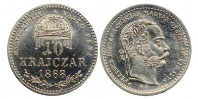 Ferenc József 10 krajcár 1868 KB ARTEX