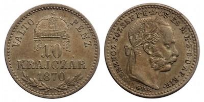 Ferenc József 10 krajcár 1870 GYF