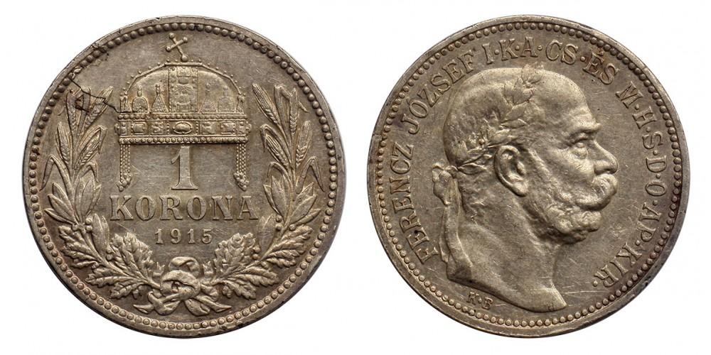 Ferenc József korona 1915 KB (hibás veret)