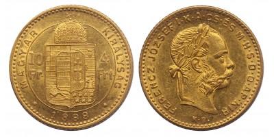 Ferenc József 4 forint 1888 KB