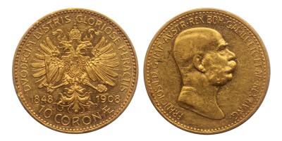 Ausztria 10 Korona 1908 vjn.