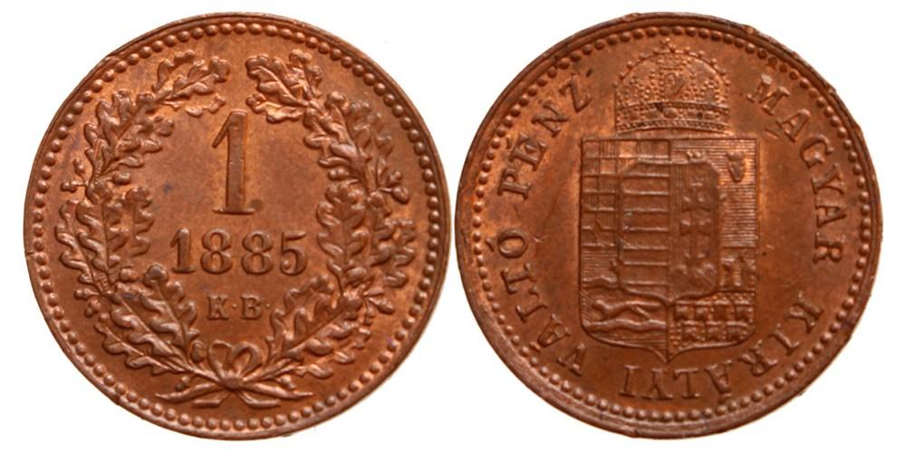 Ferenc József 1 krajcár 1885 KB