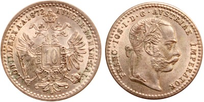Ferenc József 10 krajcár 1872 jn.