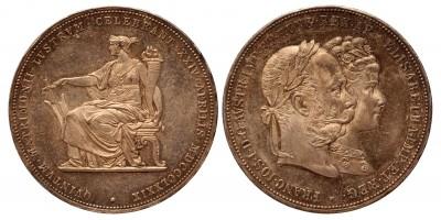 Ferenc József ezüstlakodalmi 2 forint 1879 vjn.