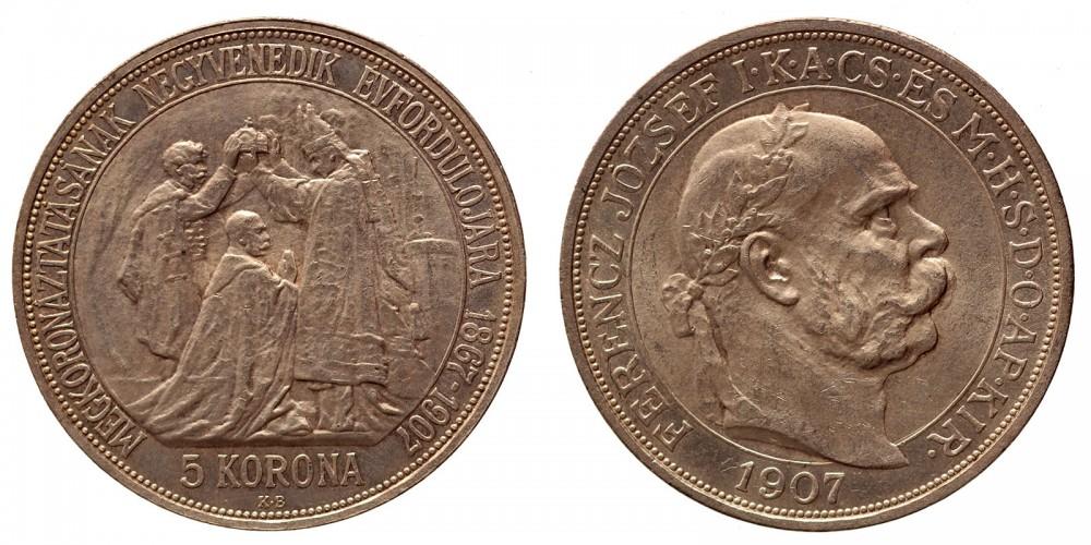 5 korona koronázási 1907 KB