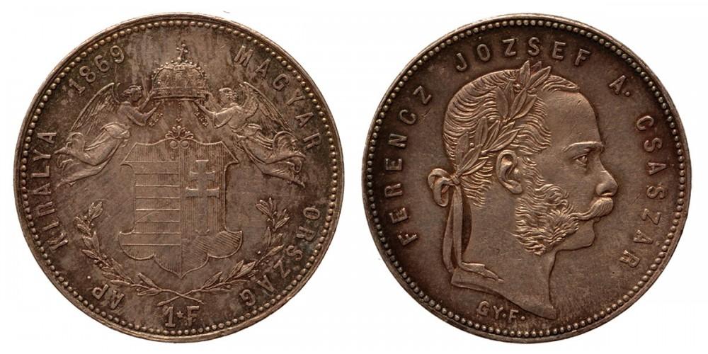 Ferenc József forint 1869 GYF