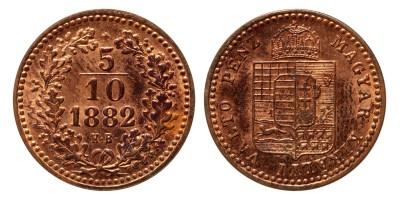 Ferenc József 5/10 Krajcár 1882 KB ARTEX UV.