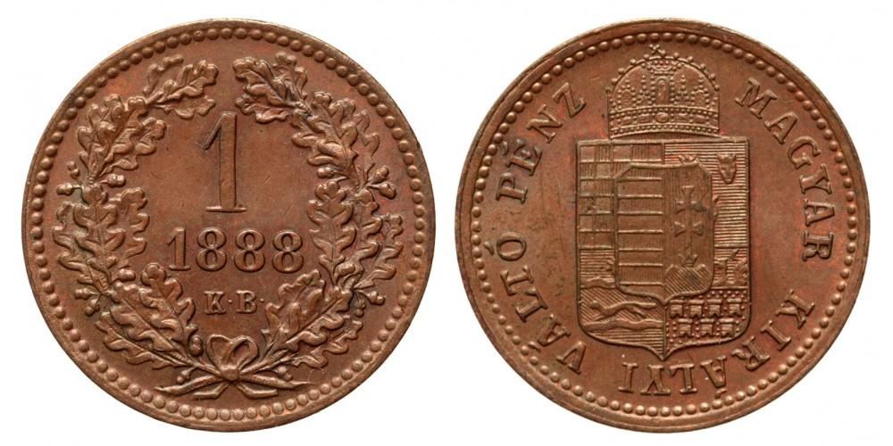 Ferenc József 1 krajcár 1888 KB