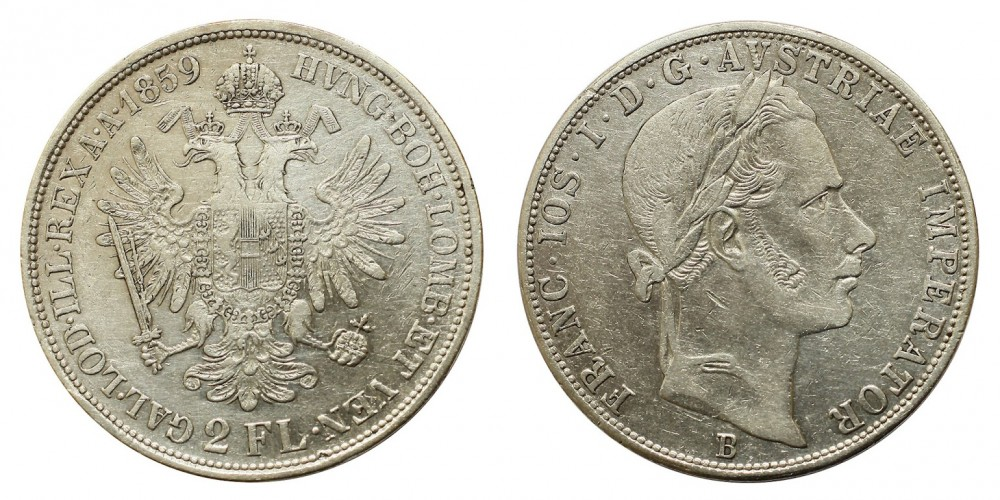 2 Forint 1859 B
