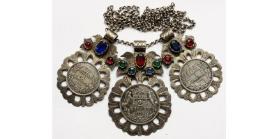"""Lazsias"" folk jewelry from Francis Joseph 1-2 korona"