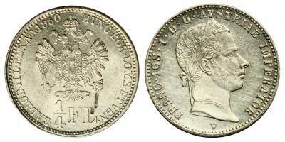 Ferenc József 1/4 florin 1860 V