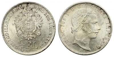 Ferenc József 1/4 florin 1859 A
