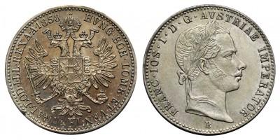 Ferenc József 1/4 florin 1858 B