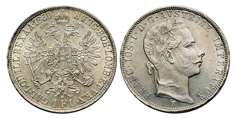 Ferenc József gulden 1860 E