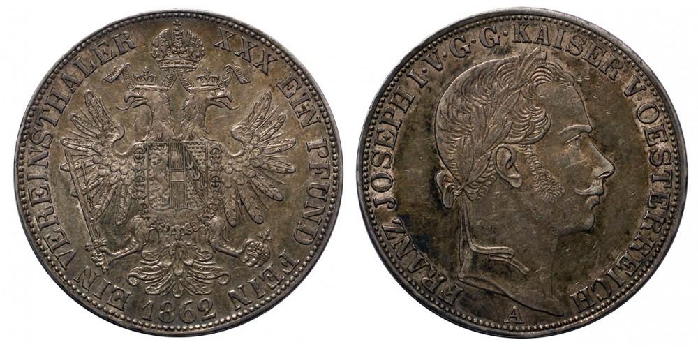 Ferenc József Vereinstaler 1862 A