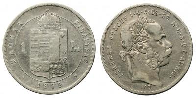 Ferenc József 1 Forint 1875 KB
