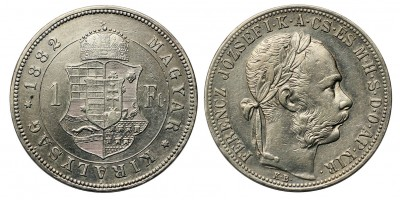 Ferenc József 1 forint 1882 KB