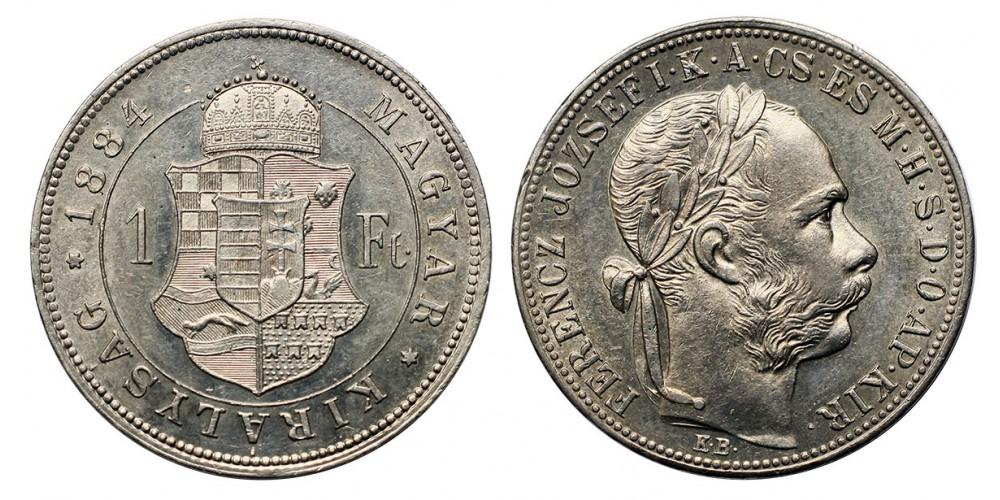 Ferenc József 1 Forint 1884 KB