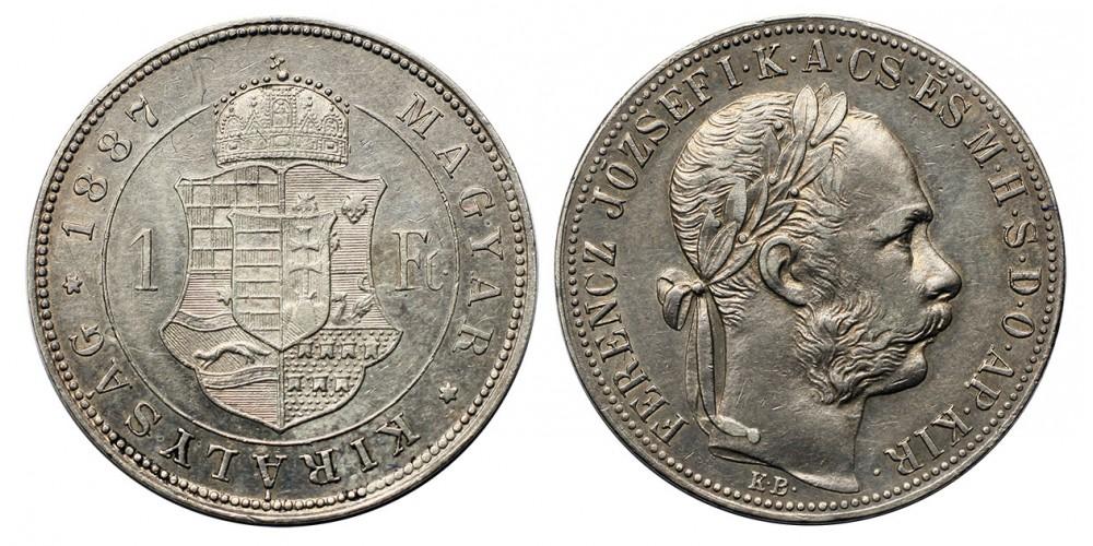 Ferenc József forint 1887 KB