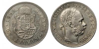 Ferenc József forint 1892 KB Fiume címer