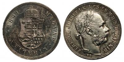 Ferenc József 1 Forint 1891 KB