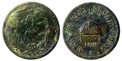 Ferenc József 2 fillér 1900 KB. R