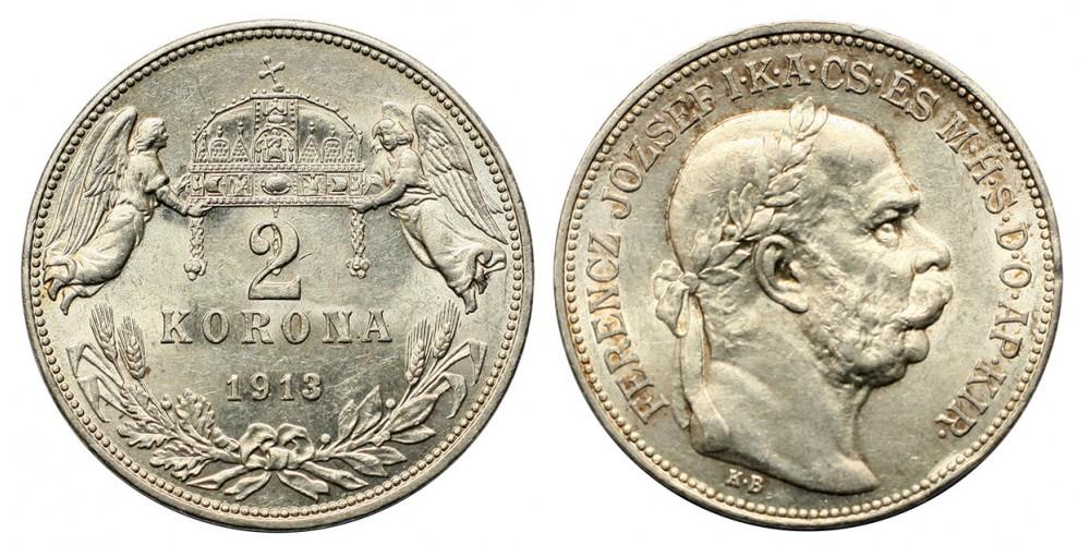 2 Korona 1913 KB.