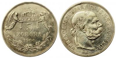 Ferenc József 5 Korona 1900 KB