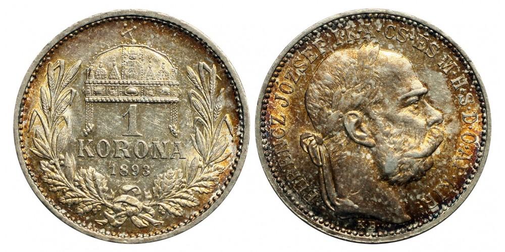 1 Korona 1893 KB.