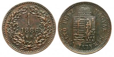 Ferenc Joseph 1 kreuzer 1886 KB